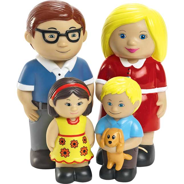 Excellerations Our Soft Family Dolls   Set of All 4 Families