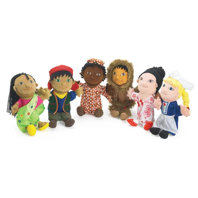 Excellerations Around The World Puppets   Set of 6