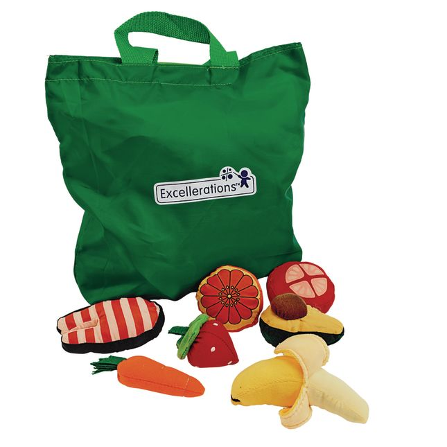 Excellerations® Yummy Plush Play Food - 25 Pieces