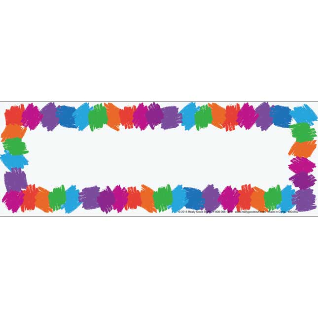 Preschool Chair Pocket Name Tag Refill
