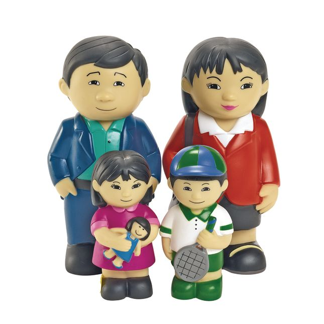 Excellerations Our Soft Family Dolls Asian Set of 4