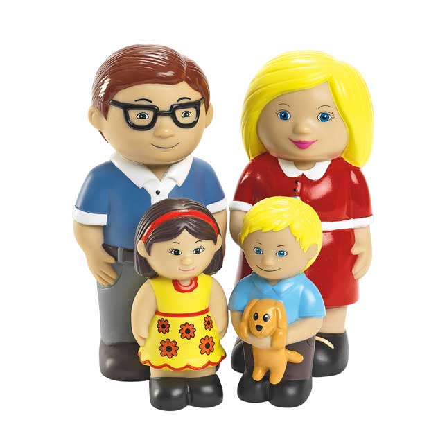 Excellerations Our Soft Family Dolls   Caucasian Set of 4