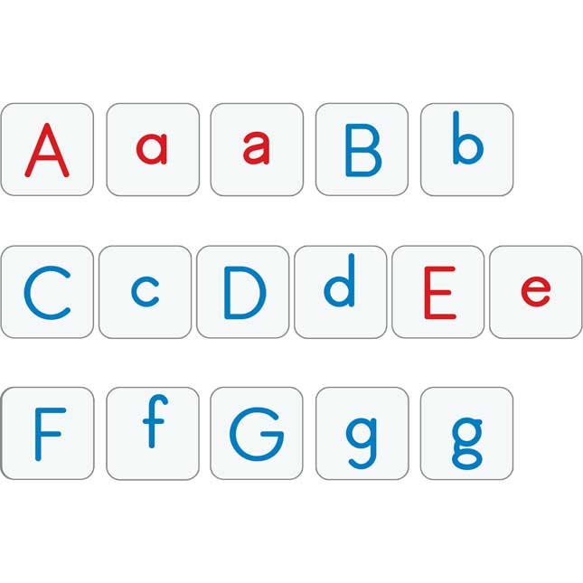 Upper And Lowercase Letter Tiles