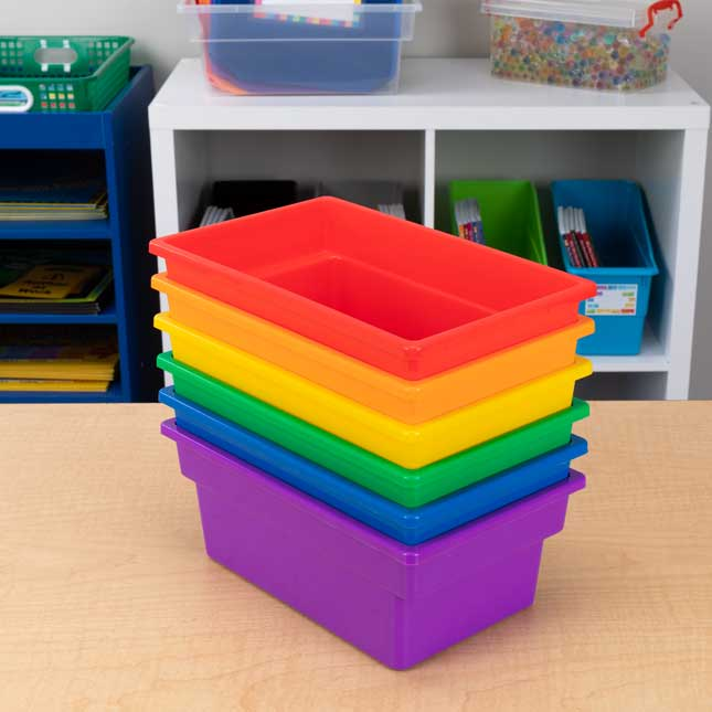 Small All Purpose Bins Set Of 6 Grouping Colors