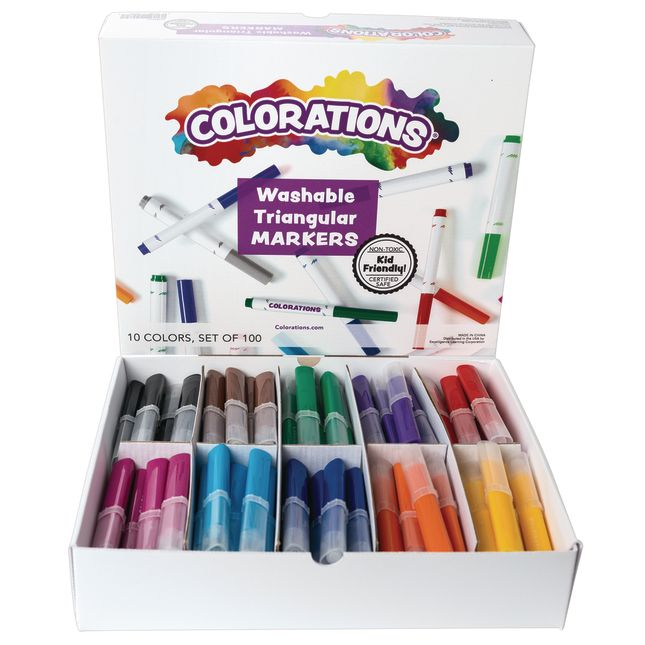 Colorations Washable Triangular Markers  Set of 100