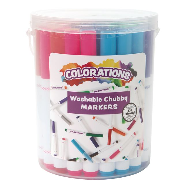 Colorations Washable Chubby Markers  Set of 44