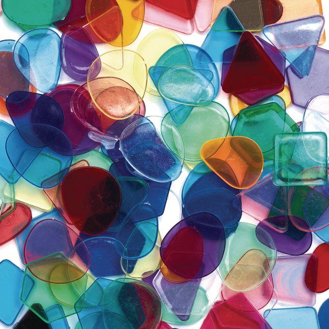 Colorations Large Translucent Mosaic Craft Tiles  1 lb