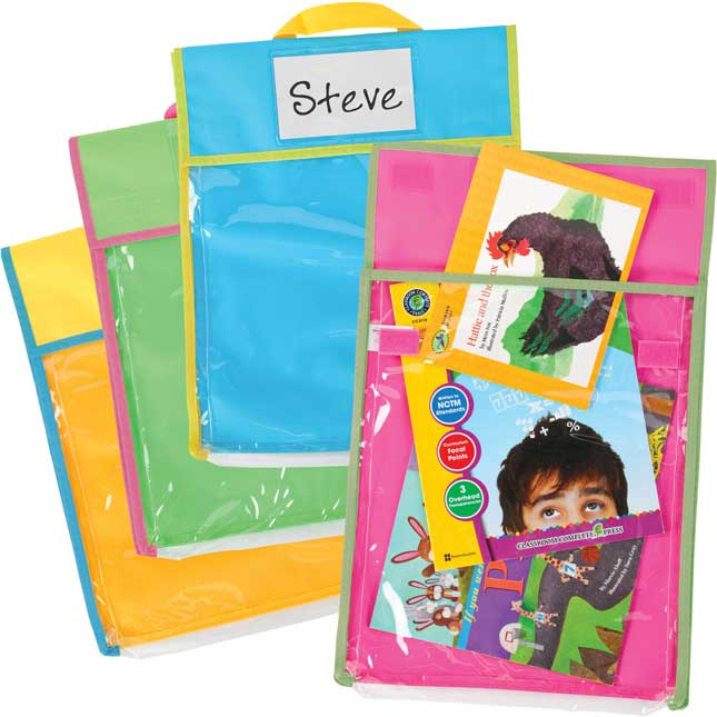 Store More® Large Clearview Book Pouches - Neon Multicolor - Set Of 36