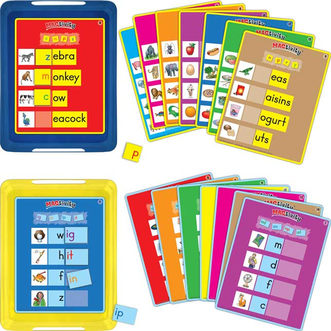 Really Good Magtivity Tins Beginning Sounds And Short Vowel Word Families Kit