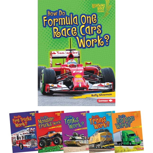 Lightning Bolt Books: How Vehicles Works 6-Book Set