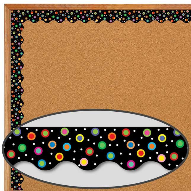 Poppin' Patterns® Dots On Black Wavy Border