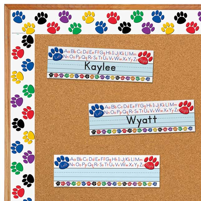 Colorful Paws Nameplate And Border Trim Set