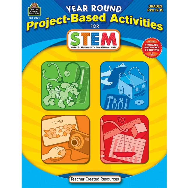 Year Round Project-Based Activities For STEM Book - Grades Pre-K-K