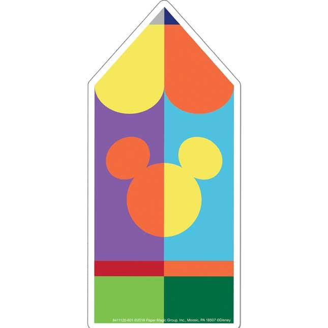 Geo Mickey® Pencil Paper Cutouts