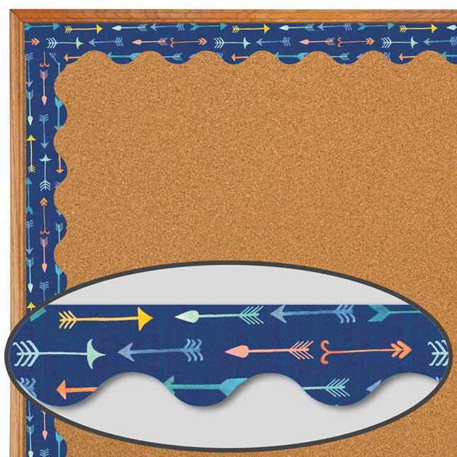 Confetti Splash Pointed Arrows Deco Trim - 1 border trim