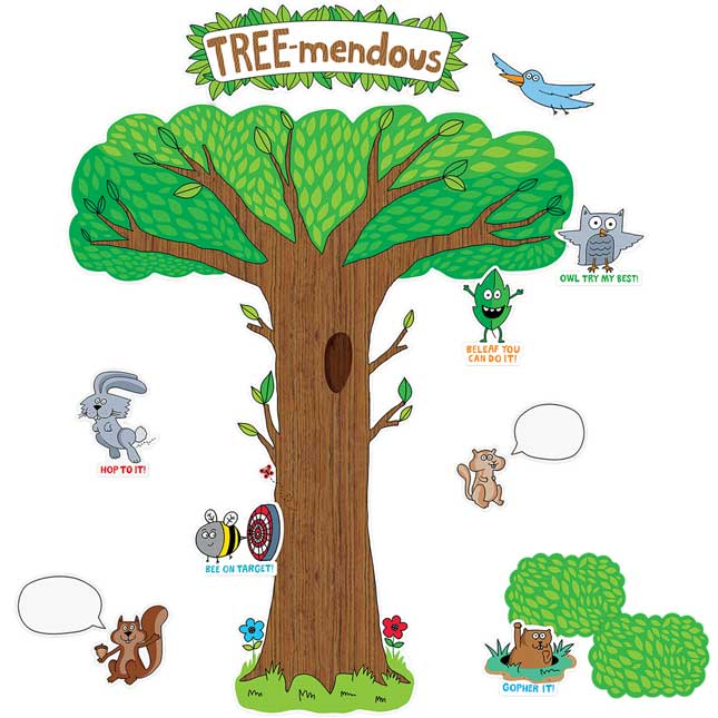 So Much Pun! Tree-mendous Bulletin Board