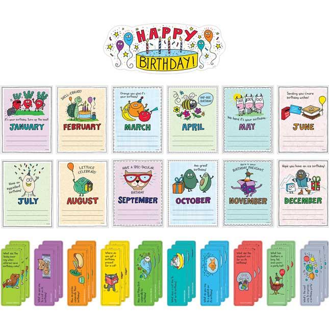 So Much Pun! Happy Birthday Bulletin Board