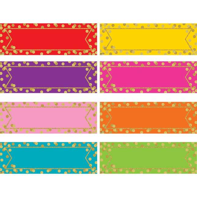 Confetti Magnetic Labels - 20 labels