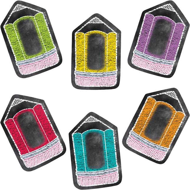 "Chalk It Up! Pencil 3"" Designer Cutouts"