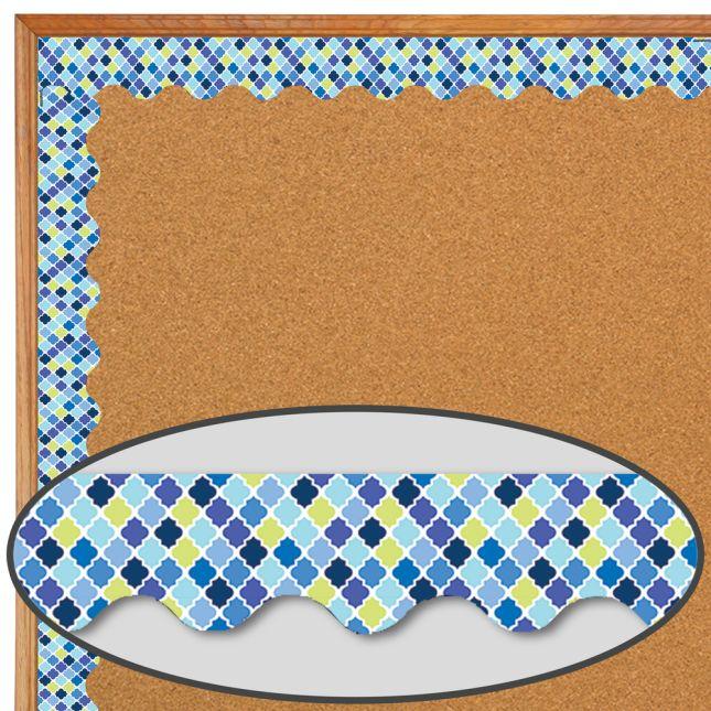 Blue Harmony Diamond Extra Wide Deco Trim - 1 border trim