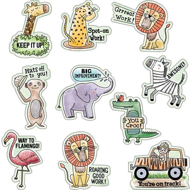 Safari Friends Reward Stickers