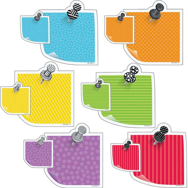 Bold and Bright Sticky Notes Designer Cutouts Accents Kit