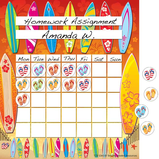 Flip Flops Frenzy! Mini Stickers And Incentive Chart