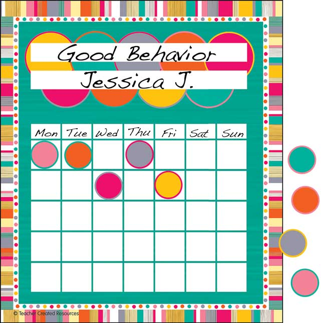 Tropical Punch Incentive Charts And Mini Stickers