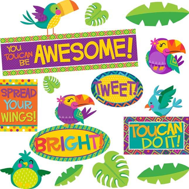 You-Can Toucan Motivational Bulletin Board Kit - 1 multi-item kit