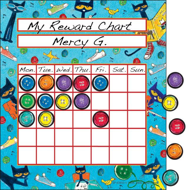 Pete The Cat® Groovy Student Incentive Charts And Mini Stickers