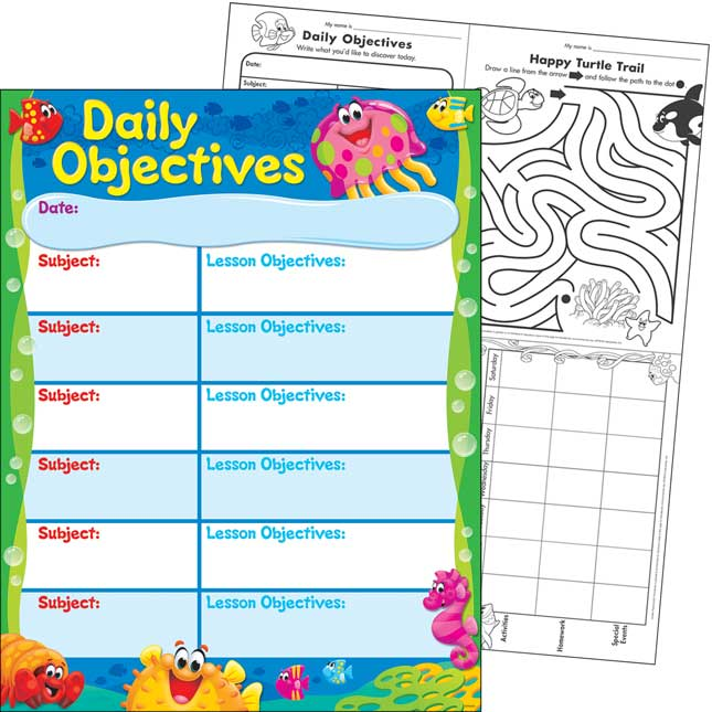 Sea Buddies™ Daily Objectives Learning Chart
