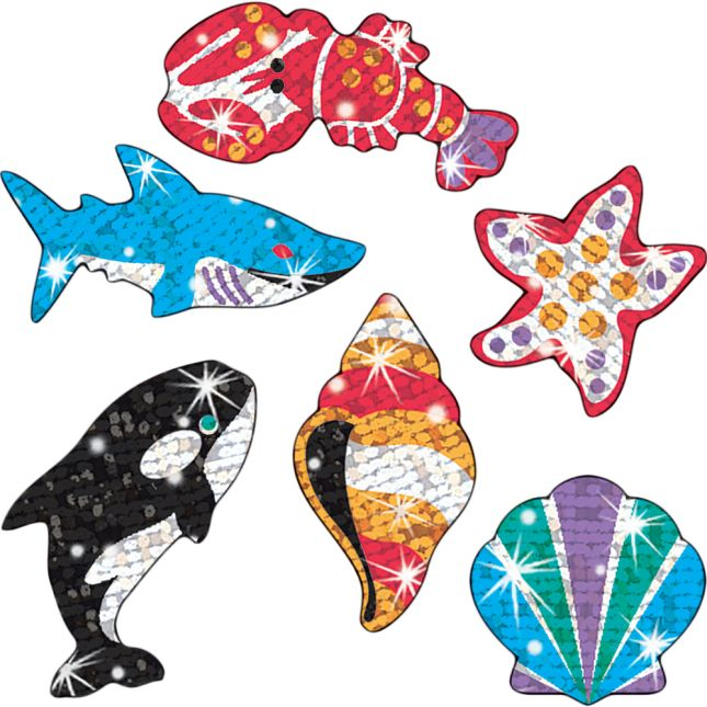 Deep Sea Dazzlers Sparkle Stickers® - 72 stickers