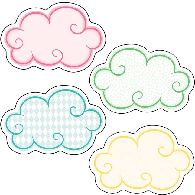 Up And Away Clouds Mini Cutouts